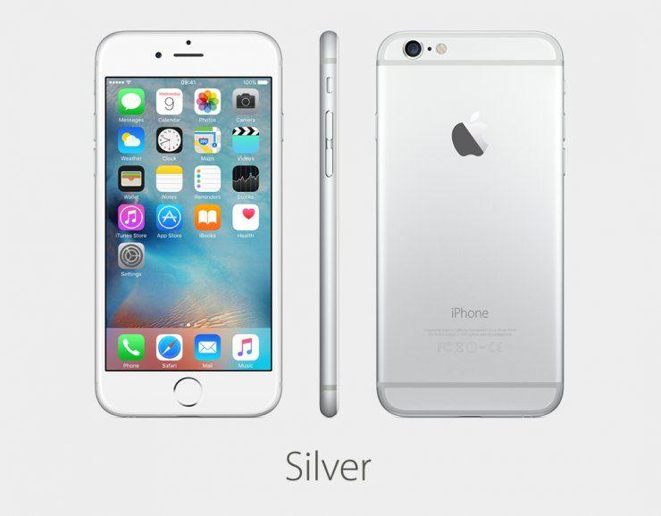 Смартфон Apple iPhone 6 128GB серебристый